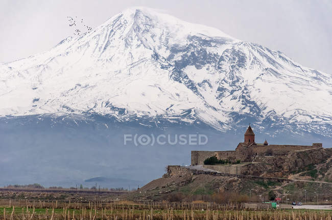Armenia, province of Ararat, Scenic view of monastery Khor Virap — Stock Photo