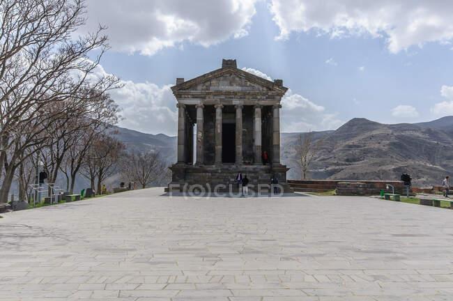 Arménie, Province de Kotayk, Garni, Le temple de Garni a été construit avec des fonds de l'empereur romain Néron. C'était le seul temple ancien sur le territoire de l'ex-Union soviétique. — Photo de stock