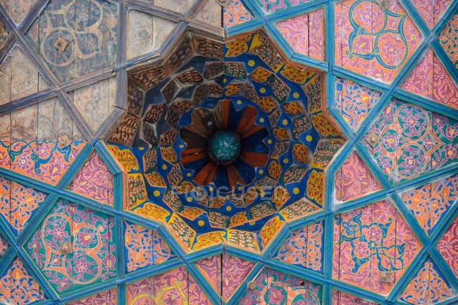 Узбекистан, Хорезмская область, Шива, крупным планом украшений на стене — стоковое фото