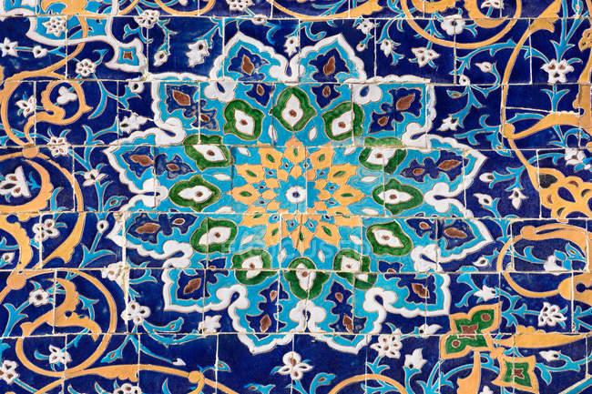 Usbekistan, Buchara Provinz, Buchara, Mosaik von Poi Kalon — Stockfoto