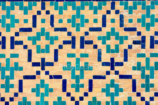Узбекистан, Бухарская область, Бухара, мозаика Пой Калона — стоковое фото