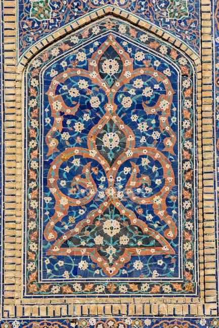 Usbekistan, Provinz Buchara, Buchara, Mosaik aus Poi Kalon — Stockfoto