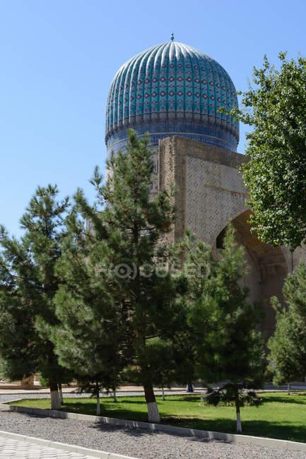 Uzbequistão, na província de Samarcanda, cúpula da Mesquita de Samarkand — Fotografia de Stock