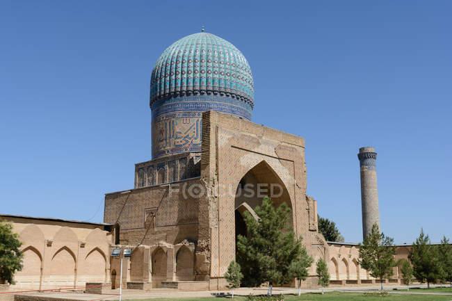 Узбекистан, провінція Самарканд, Самарканд, Бібі ханим мечеть — стокове фото