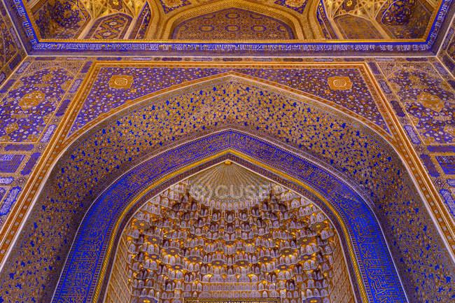 Usbekistan, Samarkand Provinz Samarkand, prächtige Mosaik — Stockfoto