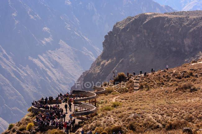 Pérou, Arequipa, Caylloma, du point de vue dans le Canyon de Colca est célèbre pour ses nombreux condors — Photo de stock