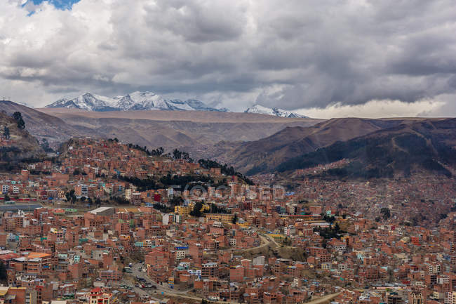 Bolivia, Departamento de La Paz, El Alto, view over the city — Foto stock