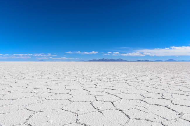 Bolívia, no departamento de Potosi, Uyuni, Salar de Uyuni pan sal no planeta — Fotografia de Stock