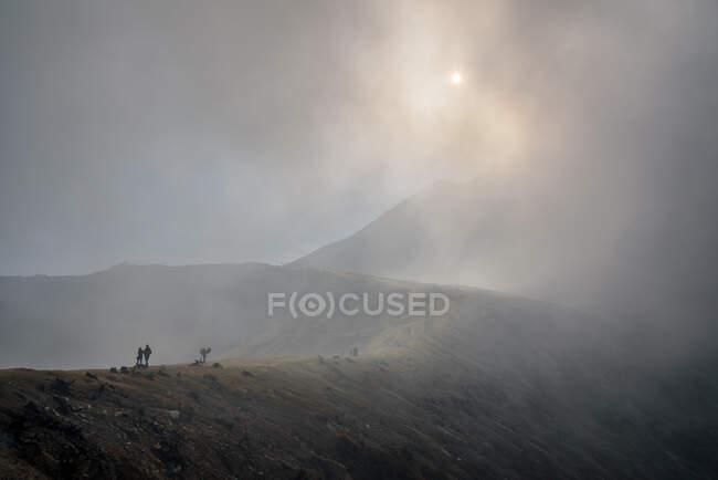 Indonesia, Java Timur, Kabudaten Bondowoso, cratere vulcanico Ijen — Foto stock