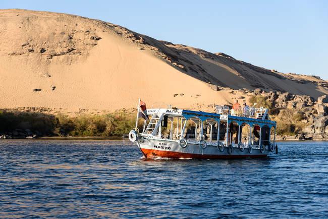 Єгипет, Асуан Gouvernement, Асуан, на човні через Ніл катаракти — стокове фото