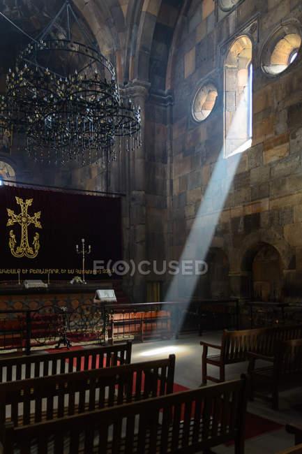Armenia, Aragatsotn Province, Ohanavan, Hovhannavank Monastery ornate interior — Stock Photo