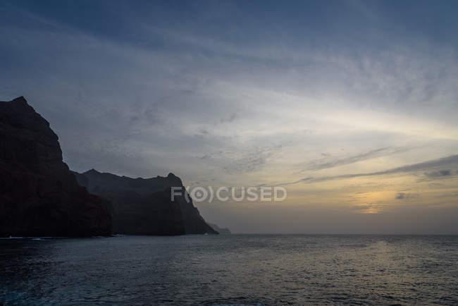 Cabo Verde, Santo Antao, Ponta do Sol, puesta de sol en Ponta do Sol - foto de stock