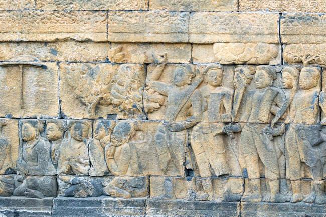 Indonésia, Java Tengah, Magelang, templo budista, estátuas do complexo do Templo de Borobudur — Fotografia de Stock