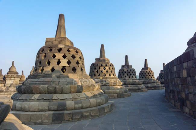 Indonésie, Java Tengah, Magelang, Temple complexe de Borobudur, Temple bouddhiste — Photo de stock