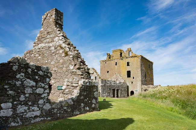 Reino Unido, Escócia, Aberdeenshire, Stonehaven, Dunnottar Castle ruínas — Fotografia de Stock