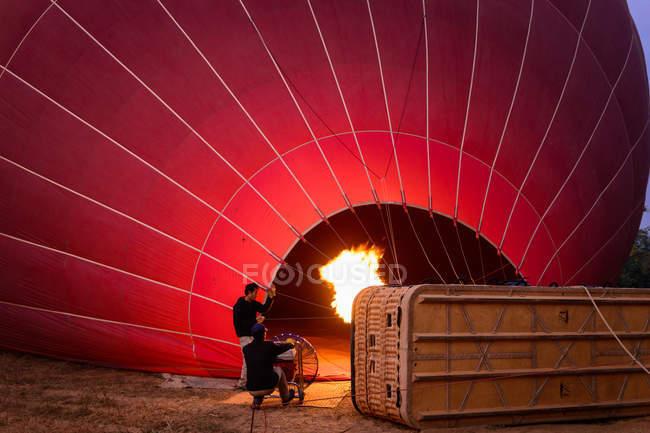 Vorbereitungsballon für den Flug über Luxor, Luxor Government, Ägypten — Stockfoto
