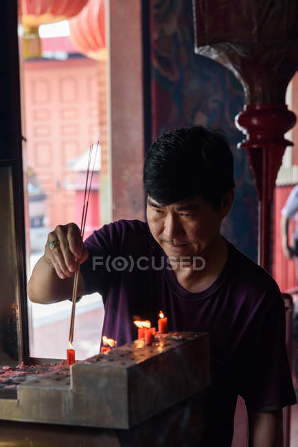 Indonesia, Sumatera Utara, Kota Medan, Buddhist temple in majority Muslim Medan — стокове фото