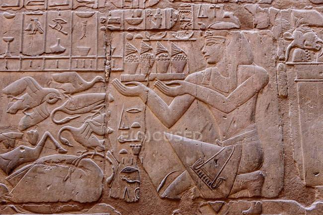 Egitto, Gouvernement Luxor, Luxor, Tempio di Luxor, patrimonio mondiale dell'UNESCO — Foto stock