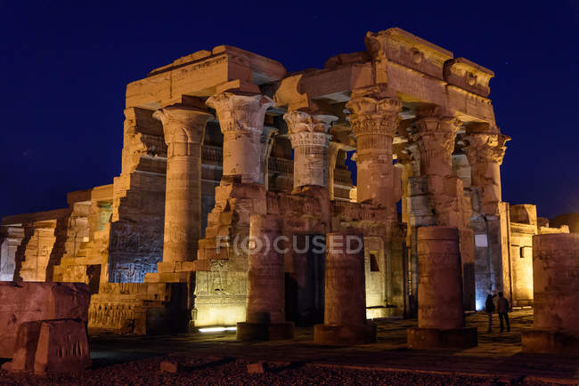 Egypt, Aswan Gouvernement, Kom Ombo, Temple of Kom Ombo dedicated to gods Horus  and Sobek — Stock Photo
