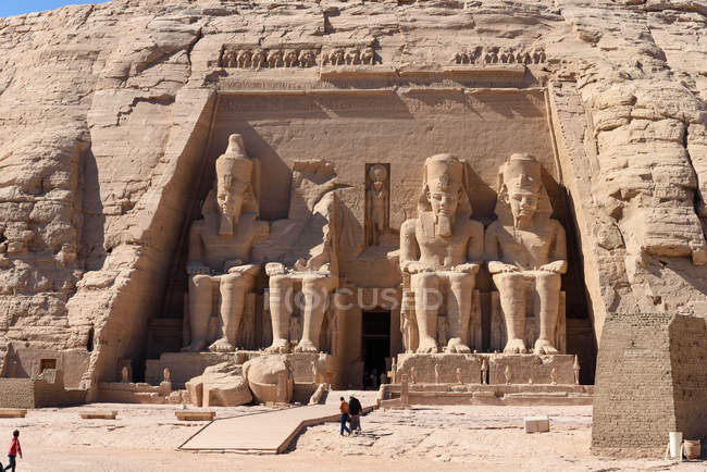 Egypt, Aswan Gouvernement, Abu Simbel, UNESCO World Cultural Heritage — Stock Photo