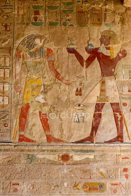 Єгипет, нові долини Gouvernement, храм Хатшепсут — стокове фото