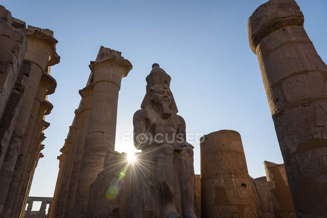 Egypt, Luxor Gouvernement, Luxor, Luxor Temple, UNESCO World Heritage Site — Stock Photo
