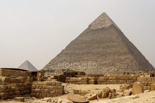 Egipto, Giza Gouvernement, Giza, Las Pirámides de Giza - foto de stock