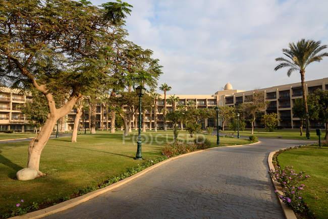 Egito, província de Giza, Al Haram, Mena House Hotel, tradicional hotel no Egito — Fotografia de Stock