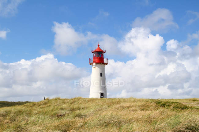 Germany, Schleswig-Holstein, Sylt, List, lighthouse at the elbow — Stock Photo