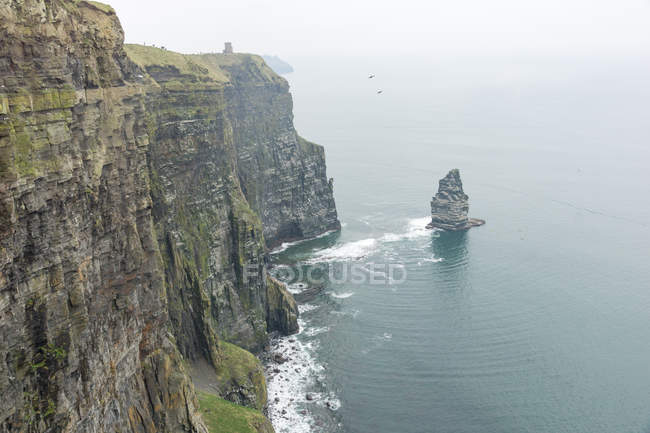 Irland, County Clare, Cliffs of Moher, steile Felswände am Meer — Stockfoto