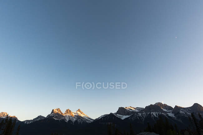 Canada, Alberta, Banff National Park,  summit in the evening light — Stock Photo
