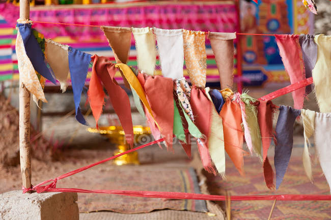 Cambodia, Kep, Prayer flags in the Pagoda, Kampot and Kep — Stock Photo