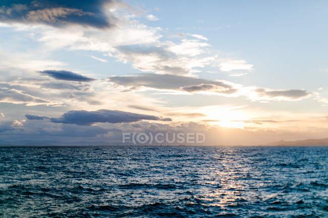 Greece, Attica, Paleo Faliro, evening sea view at sunset — Stock Photo