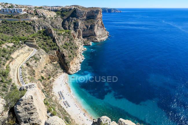Espanha, Comunidad Valenciana, El Poble Nou de Benitatxell, vista panorâmica da Costa Blanca de cima — Fotografia de Stock