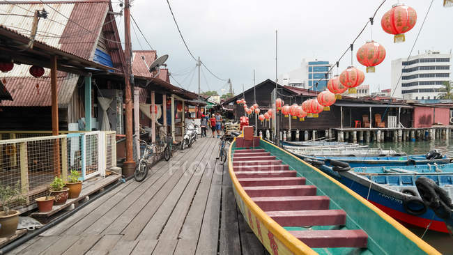 Malaysia, Pulau Pinang, Georgetown, Clan Jetties in Penang — Stockfoto