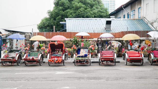 Rickshaw Square in Penang, Georgetown, Pulau Pinang, Malaysia — Stock Photo