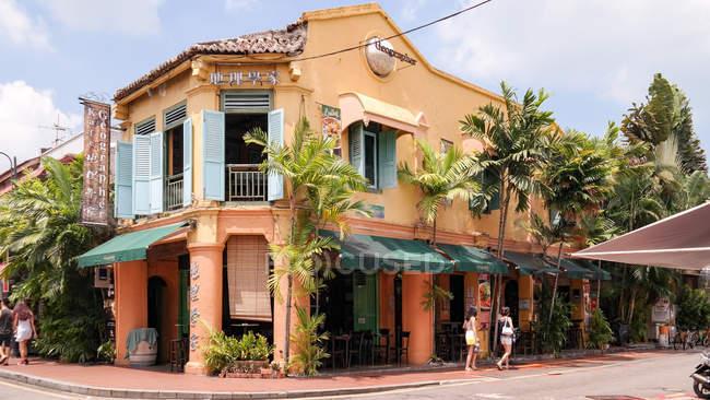 Malaysia, Melaka, Melaka, Straßencafé in Melakka — Stockfoto