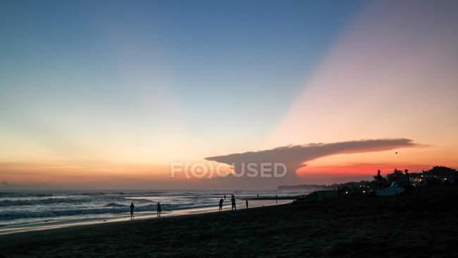 Indonésie, Bali, Kabudaten Badung, Coucher de soleil magnifique à Canggu — Photo de stock