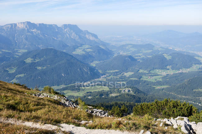 Deutschland, Bayern, Berchtesgaden, bergige Landschaft in Berchtesgaden — Stockfoto
