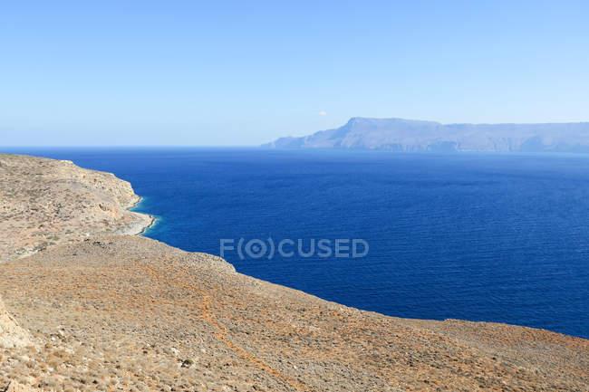 Греция, Крит, Kalles Inselland на Крите на пути в отеле Balos Beach — стоковое фото