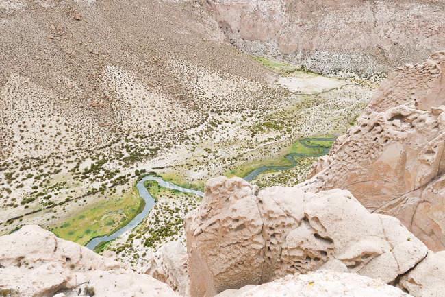 Bolivien, Departamento de Potosi, Nor Lopez Anaconda Canyon Ansicht von oben — Stockfoto