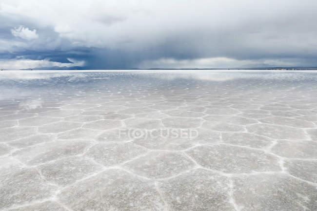 Bolivia, Departamento de Potos, Nor Lopez, desierto de sal Uyuni en temporada de lluvias - foto de stock