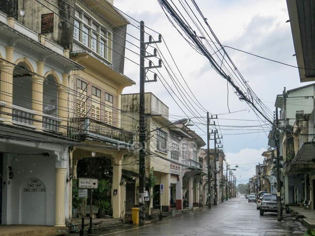 Таїланд, Чанг Wat Пханг Нга, тамбон Khuekkhak, вулиці центру міста Takuapas — стокове фото