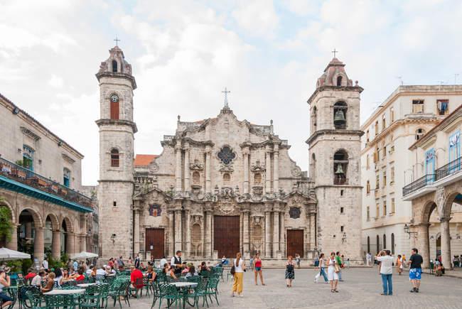 Куба, Гавана, Девы Марии, собор, La Catedral de la Virgen церковь Habana де ла Консепсьон Инмакулада — стоковое фото