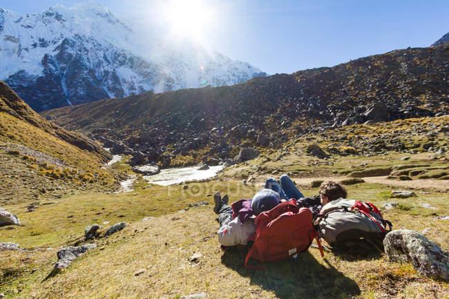 Перу, Куско, Куско, Салкантай Trek 5d, остановка до последнего подъема — стоковое фото
