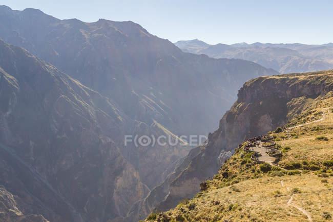 Pérou, Arequipa, randonnée jusqu'à la vallée du Colca Canyon — Photo de stock