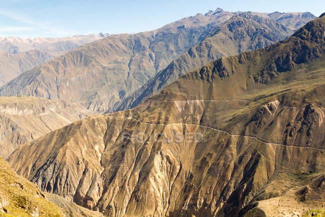 Vue d'observation Pérou, Arequipa, la vallée du Colca Canyon — Photo de stock