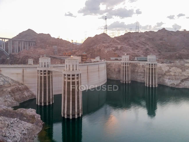 США, Аризона, Лас-Вегас, вид Плотина Гувера — стоковое фото