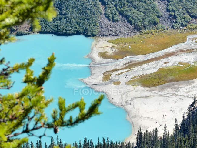 Kanada, Alberta, Division Nr. 15, Panoramablick über Lake Louise — Stockfoto