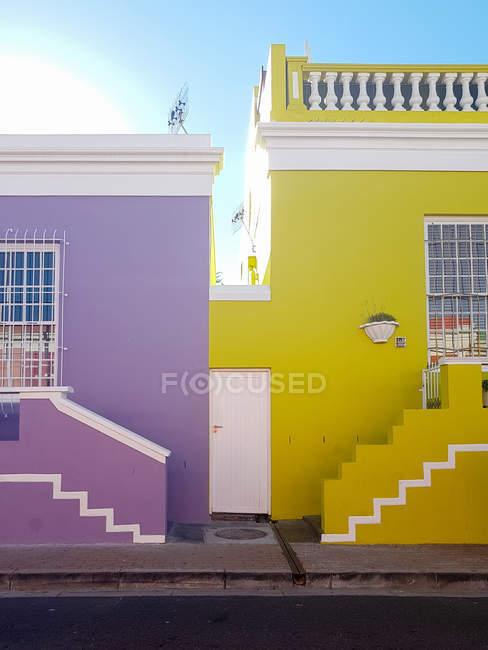 Casas coloridas de Bo-Kaap, Schotsche Kloof, Cidade do Cabo, Cabo Ocidental, África do Sul — Fotografia de Stock